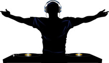 DJ And Record Decks