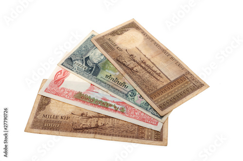 Recess Fitting Chicken Banknote Laos Kip