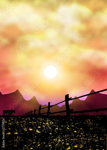 Alpen Wall mural