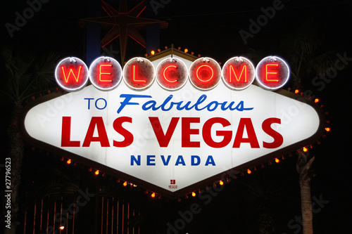 Foto op Canvas Las Vegas Welcome to Las Vegas 01