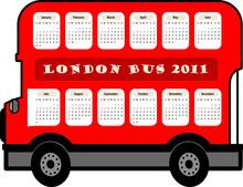 London Bus Calendar 2011 Year ...