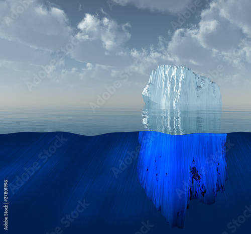 Fotografie, Obraz  High Resolution 3D Iceberg