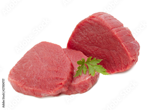 Poster Vlees raw meat