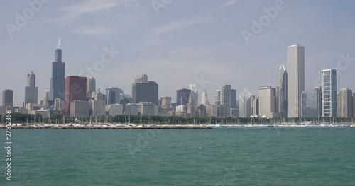 Keuken foto achterwand San Francisco Chicago skyline viewed from Michigan Lake