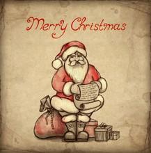 Christmas Greeting Card With I...