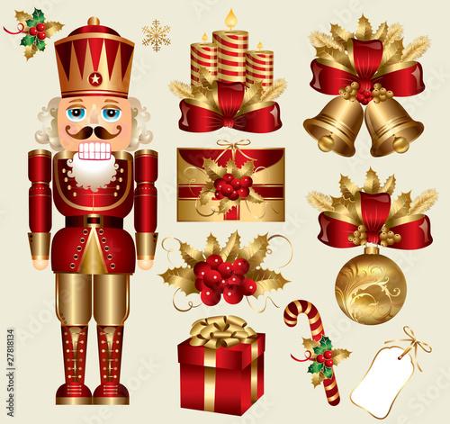 Fotografía  Vector set: traditional christmas elements