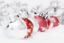 Red And Silver Baubles