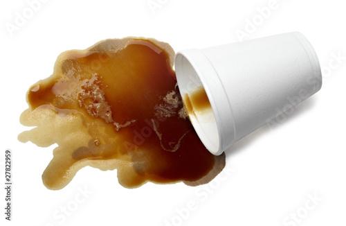 Fotografie, Tablou  coffee drink beverage splashing stain dirty