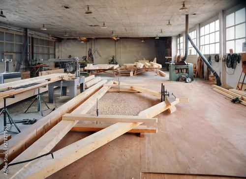 atelier du charpentier Canvas Print