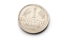 Old German Coin Isolated On White Background