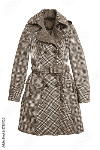 Fotografie, Tablou  Trench coat isolated on white