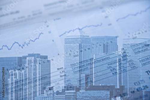 Business finance concept composite image Wallpaper Mural