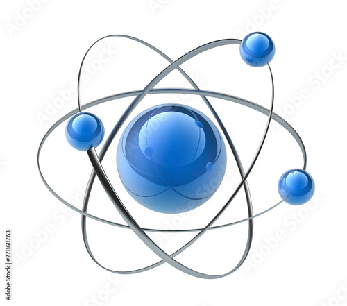 Orbital model of atom Fototapet