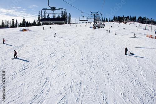 Fotomural stok narciarski