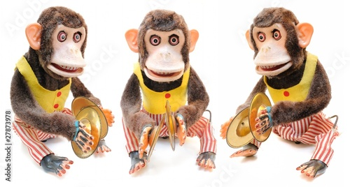 Monkey with Cymbals Wallpaper Mural