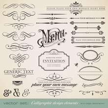 Vector Set: Calligraphic Eleme...