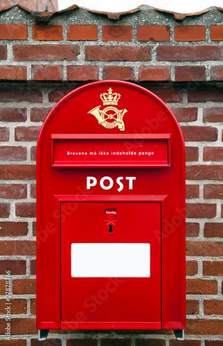 Post Danmark, danish mail box Poster