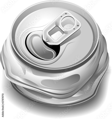 Canvas Prints Draw Lattina Schiacciata Riciclaggio-Crushed Can for Recycle-Vector