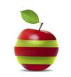 Red-Green Apple. Vector illustration.