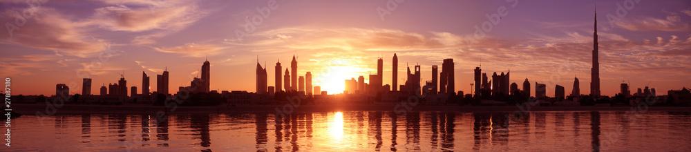 Fototapeta Cityscape Dubai, Sunset