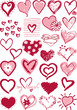 stylized hearts vector collection