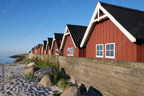 In de dag Scandinavië Strandby harbour