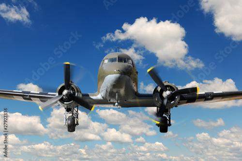 C-47 Vinteg Plane Landing Wallpaper Mural