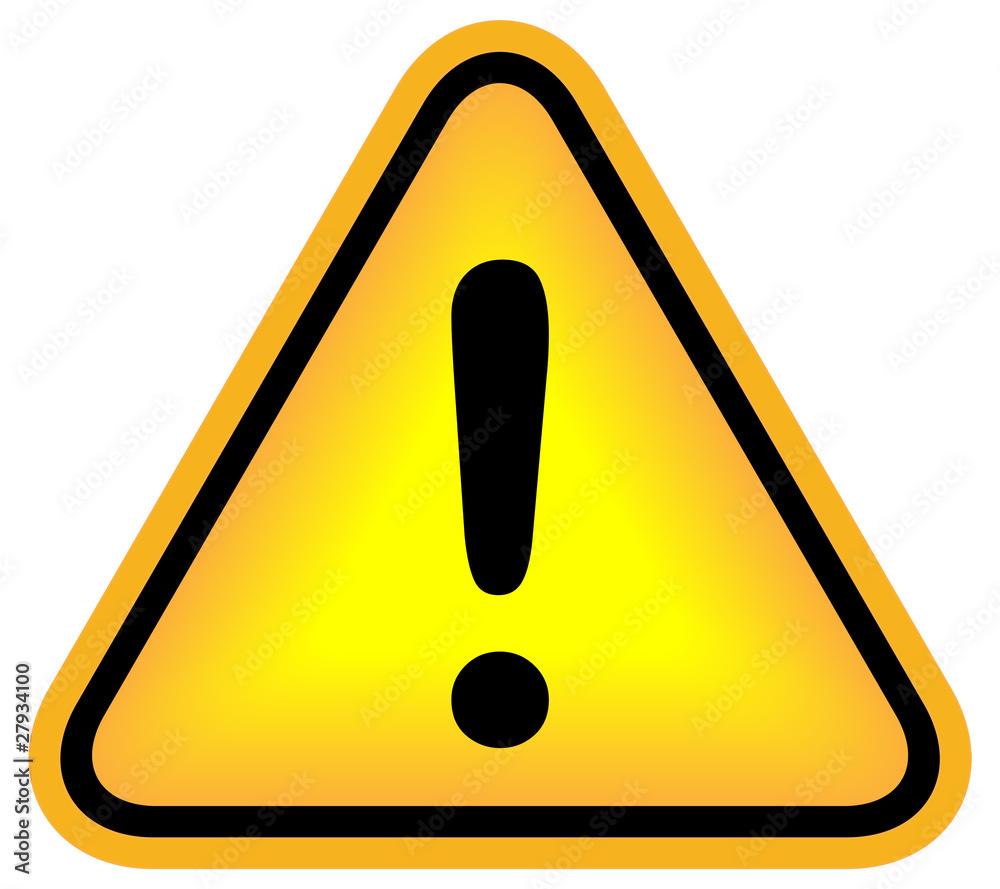 Fototapeta Exclamation danger sign