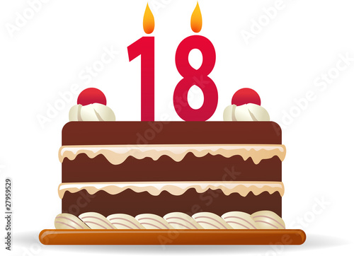 18 Years Birthday Cake Kaufen Sie Diese Illustration Und Finden