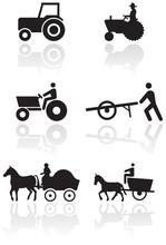 Vector Set Of Different Farmer Symbols.