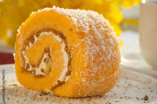 Orange biscuit roll Fototapet