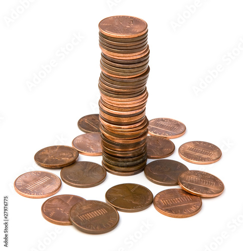Fotografía  Stack of Pennies