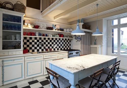 interno di grande e bella cucina, stile liberty - Buy this stock ...