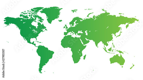 Türaufkleber Weltkarte Green World map