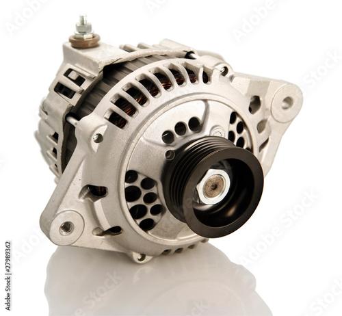 Photo Generic electric automotive alternator isolated