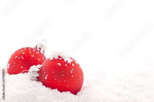 Poster Eclaboussures d eau Red Christmas balls