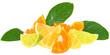 Orange and lemon.