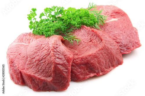 Staande foto Vlees Meat with greens
