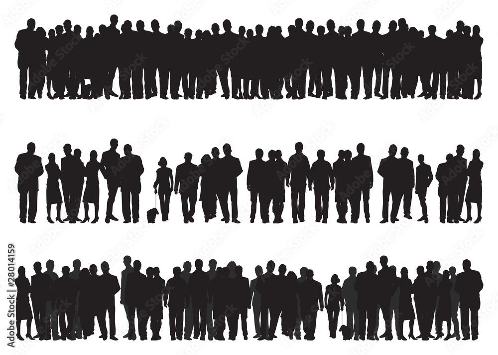 Fototapeta people silhouettes
