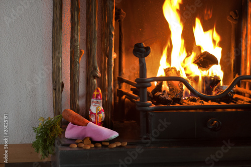 Fotomural Sinterklaas shoe