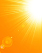 Leinwandbild Motiv Hot summer sun