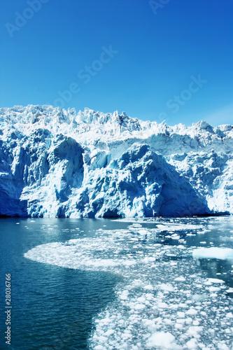 Poster Arctic Hubbard Glacier in Alaska
