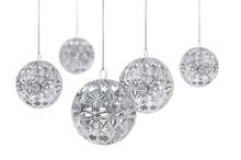Shiny Silver Christmas Balls