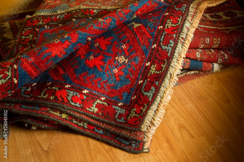 Fotografie, Obraz  ancient oriental carpets- tappeti orientali antichi