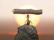Leinwandbild Motiv Statue of Labour, 150 million years of ants civilization