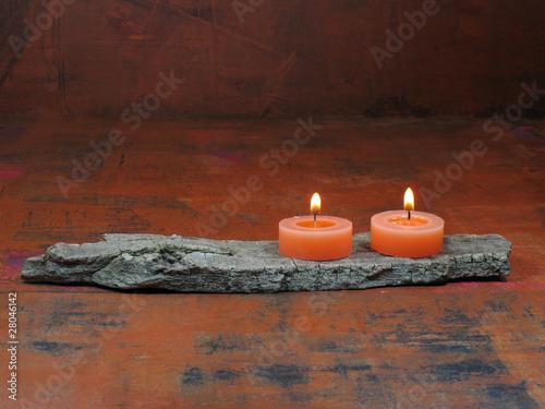 Plissee mit Motiv - Kerzen
