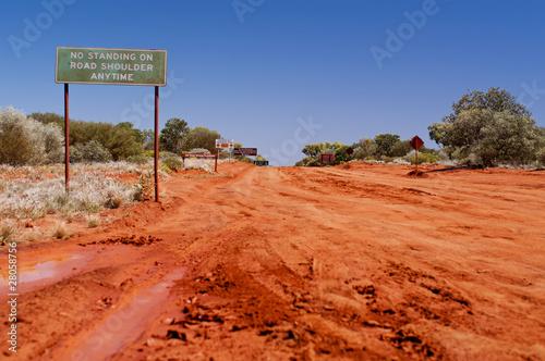 Obraz na plátně  Warnhinweise am Outback Track