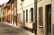 Malerische Gasse in Fano, Italien