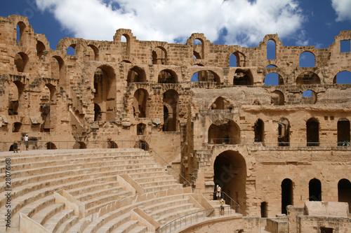 Staande foto Tunesië Amphitheater in El Djem (El Jem) in Tunisia