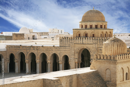 Staande foto Tunesië Great Mosque of Kairouan - famous Tunisian landmark